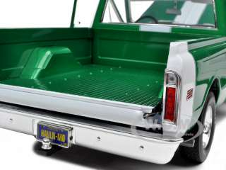 1969 chevrolet fleetside pickup truck rallye green with hockey stripe