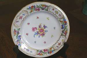 Germany Bavaria China Dresden Dinner Plate US Zone German Floral Dish