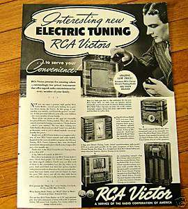 1938 RCA Victor Electric Tuning Radio Ad