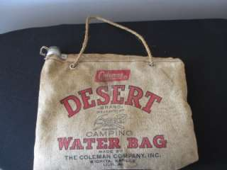 Coleman Desert Traveler Camping Canvas Water Bag Flax Duck Scotland
