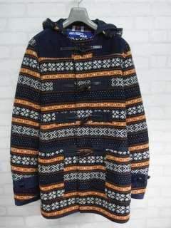 des GARCONS JUNYA WATANABE MAN__Nordic Pattern Duffel Coat