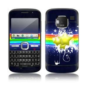 Rainbow Stars Design Decorative Skin Cover Decal Sticker for Nokia E5