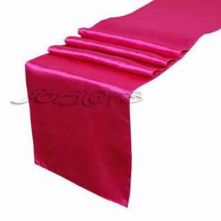 Satin Table Runners 12 x 108 Wedding Decorations Hot Pink