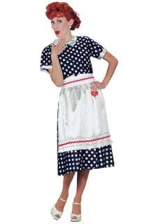 Love Lucy Polka Dot Dress Adult Halloween Costume