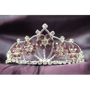 Princess Bridal Wedding Tiara Crown with Lilac Crystal