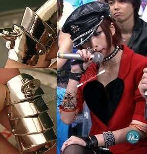 GOTHIC PUNK Rock NANA ARMOR silver Sheild Ring 17mm Dia