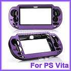 Metal Skin Protective Hard Case Cover Shell fr Sony PS Vita PSV Purple