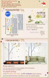 ECO 36 TREE & BIRD Wall Decor Deco Mural Sticker