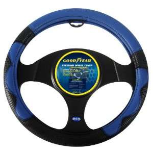 Goodyear GY SWC307 Blue/Black Steering Wheel Cover