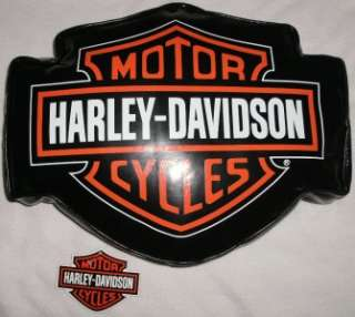 Harley Davidson Vinyl Throw Logo Pillow 14 X 11 Motorcycle Licensed