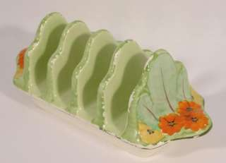 Rubian Art Pottery Grimwades Hand Painted Toast Rack Floral Design