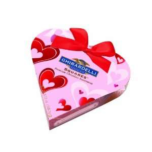 Ghirardelli Valentines Small Pink Heart Gift, 3.72 Ounce