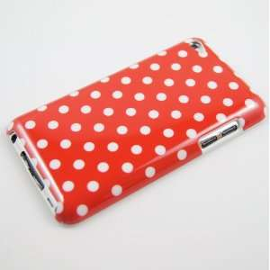 Red Polka Dot #002 Hard Plastic Case for Ipod Touch 4