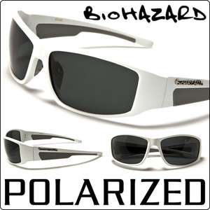Polarized X Loop New Sports Wrap Mens Running Sunglasses White Frame