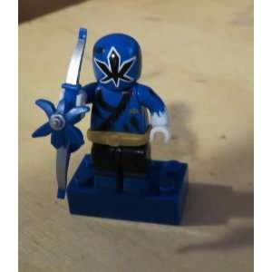 POWER RANGERS SAMURAI   MEGA BLOKS MINI FIGURE (BLUE RANGER) Toys