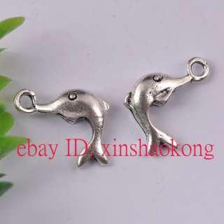 FREE SHIP 20pcs Tibetan Silver Dolphin Charms KP5017