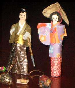 LOVELY LOT OF PAPER & WOOD JAPANESE JAPAN DOLLS