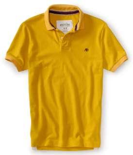 aeropostale mens solid a87 pique polo shirt