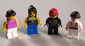 NEW* 4 Lego Girl Women Lady MINIFIGS People PINK SHIRT