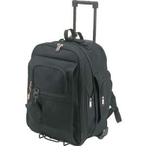 Black   Expandable School Rolling Backpack on Wheels