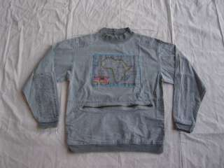 Vtg 80s 90s BUGLE BOY Exploration AFRICA CANVAS SHIRT S Hip Hop