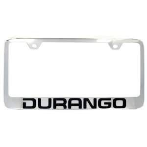 Dodge Durango Factory Font Engraved Chrome License Frame Automotive