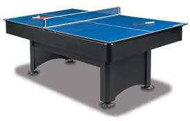 The Scottsdale comes with a 3 piece table tennis conversion top that