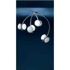 Folie 70s, 8light Flushmount,White/Plati: Home Improvement