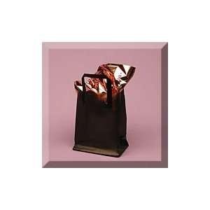 16 Black Premium Frosty Plastic Hdl Bag