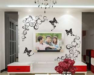 Black Butterfly  Home Decor Stickers Wall Decals
