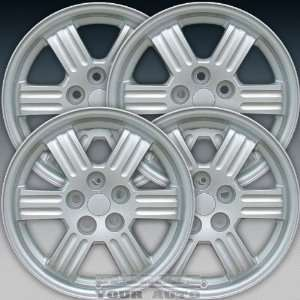 2002 Mitsubishi Eclipse 17X6.5 Factory Replacement Sparkle Silver Full
