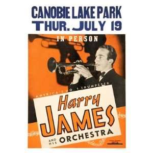 Harry James   Canobie Lake Park   15.6x11.7 inches