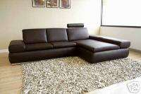 FAUSTO Recliner 100% Italian Leather Sectional Sofa Bed
