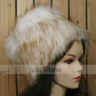 Fashion Faux Fur Women Lady Girls Winter Ski Head Warmer Warm Cap Hat