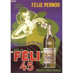 Feli 45   Vintage Drink Vintage Poster: Home & Kitchen