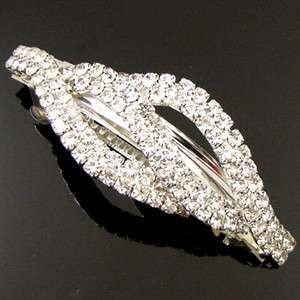 ADDL Item , clear rhinestone crystal hair barrette clip