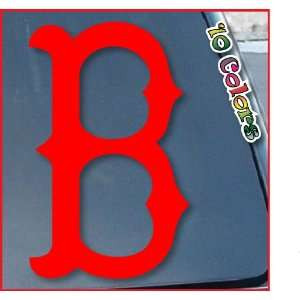 Boston Red Sox B Car Window Vinyl Decal Sticker 4 Tall