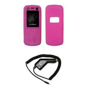 Premium Hot Pink Silicone Gel Skin Soft Cover Case + Rapid