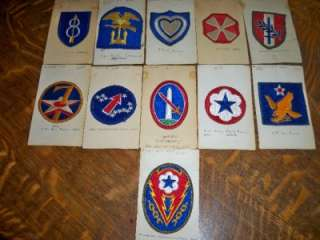 Lot 11 US Army Patches WW2 Air Force Military |
