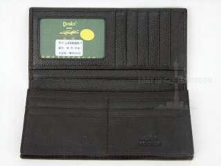 Mens genuine leather long Wallet Honeycomb crocodile purse friends