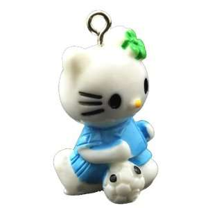 DIY Jewelry Making 1x Hello Kitty Resin Pendants, Deep