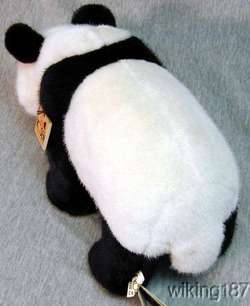 KOSEN MADE in GERMANY STANDING PANDA BEAR PLUSH TOY