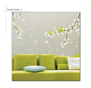 FLOWERING TREE ★ WALL ART VINYL STICKERS DECALS