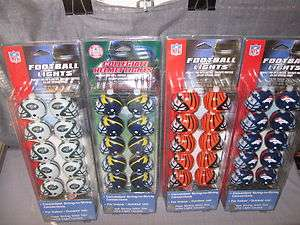 NFL Team Football League Licensed Official Helmet 10 Lights String to