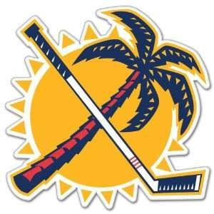 Florida Panthers NHL Hockey car bumper sticker 4 x 4