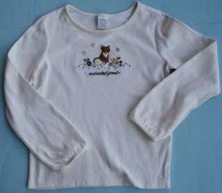Gymboree AUTUMN HIGHLANDS Cream Ivory Long Sleeve Fox Top Shirt Tee 8