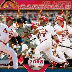 ST. LOUIS CARDINALS 2008 MLB Monthly 12 X 12 WALL