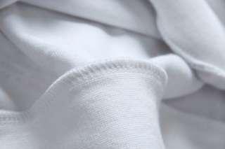 NWT Men Punk High Quality White Hoodie Hooded Hoody Sweatshirt Sweat