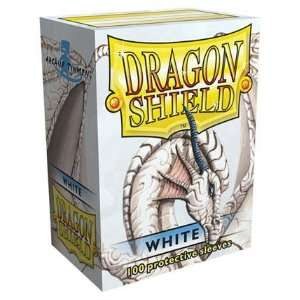 Dragon Shield Standard Deck Sleeves White 100 Count Toys