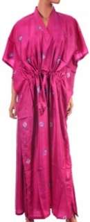 NEW $89 CHIC GROVE PINK TIE DYE ABSTRACT WOMENS SILK CAFTAN DRESS 1X